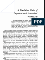 Daft A dual core model of organizational innovation (1978)