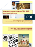 How institutions re-­‐configurate their visual identity on the internet.