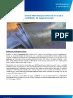 Modificări în nivelul diurnei externe şi procedura de încetare a obligaţiei de plată a contribuției de asigurări sociale