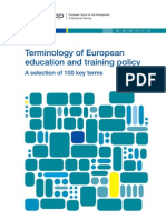 Terminology of European Education and Training Policy