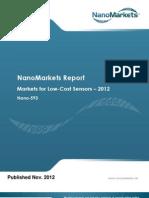 Low Cost Sensor Markets, Preview