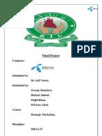 MBA project report on Telenor Pakistan