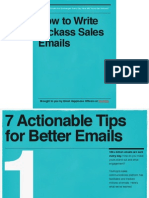 How to Write Kickass Sales Emails