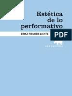 Fischer, Ericka - La estética de lo performativo[Completo]