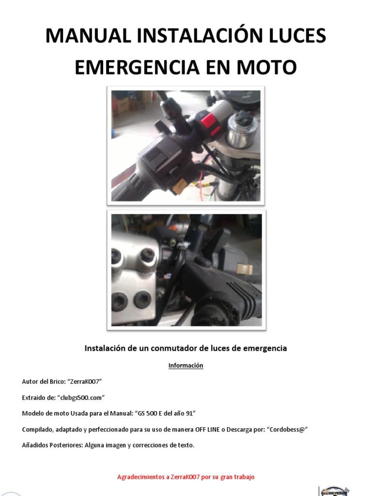 Manual instalaci n luces emergencia en moto for El gran manual del cocinero pdf