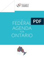 2012 Ontario Chamber of Commerce a Federal Agenda for Ontario