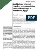 Ahmed Soliman Legitimizing Informal