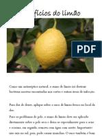 Benefícios do limão – Valor nutritivo