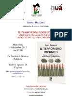 Locandina Cagliari 19 Dicembre 2012