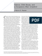 Domestic Violence, Child Abuse, and Trustworthiness Exceptions After Crawford by Myrna S. Raeder