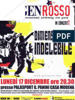 Locandina del concerto dei Gen Rosso a Modena