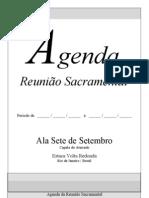 Igreja, Agenda Reunião Sacramental