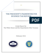 The Presidents Framework for Business Tax Reform 02-22-2012