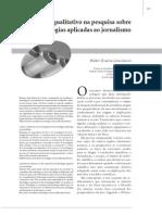 Avanço qualitativo na pesquisa sobre tecnologias aplicadas ao jornalismo  LIBERO 2007