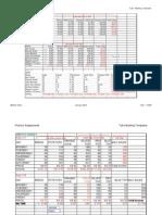 Tutor marking templates for spreadsheet exercises