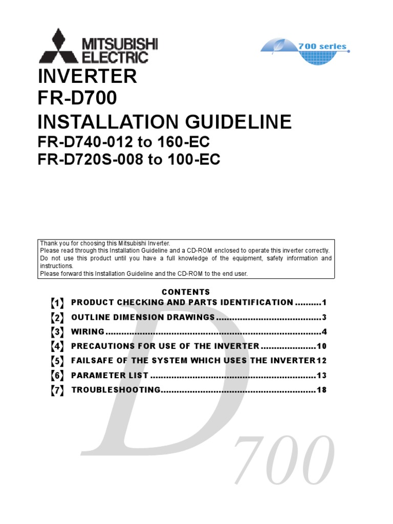 Superb Mitsubishi D700 Installation Guide Power Inverter Electrical Wiring Wiring Database Liteviha4X4Andersnl