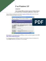 Instalar PHP en Windows XP
