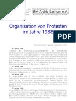 IFM-Archiv Organisation von Protesten 1988