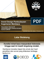 Grand Design Pembudayaan Kegemaran Membaca - Perpustakaan Nasional RI