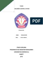 Manajemen Control System