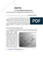 Developing the Team-Based Organization