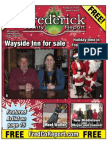 Frederick County Report, Dec. 14 - 27, 2012