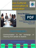 Cross Cultural Communication & Negotiation