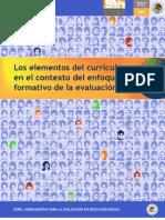 Los elementos del currículum en el contexto del enfoque formativo de la evaluación.