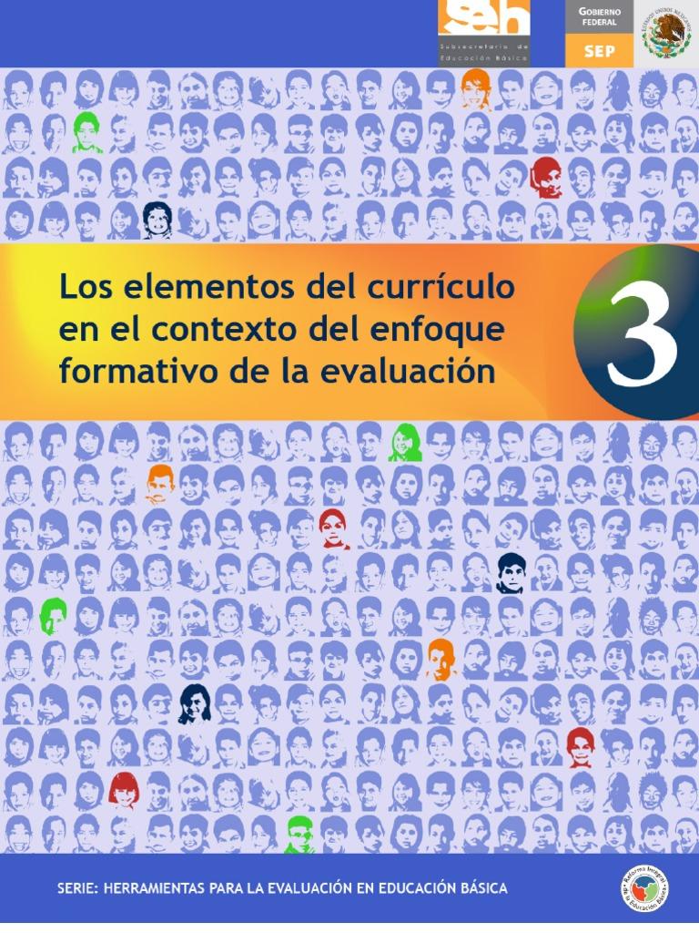 Los elementos del currículum en el contexto del enfoque formativo de ...