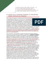 EL DOGMA DE LA SANTÍSIMA TRINIDAD; EL PERVERTIDO CREDO CATÓLICO DE ATANASIO.