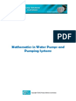 Mathematics in Water Pumps and Pumping Systems
