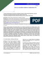 Effect of Feeding Regimens on Circadian Rhythms Implications for Aging Foy 2010
