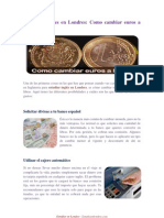 Aprender Ingles en Londres - Como Cambiar Euros a Libras