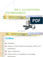 Chapter 1- Accounting Environment- Note