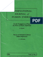 Riemann_INTERNATIONAL JOURNAL of FUSION ENERGY on the Propagation of Plane Air Waves of Finite Amplitude