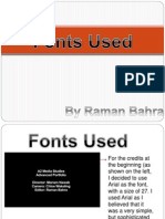 Fonts Used