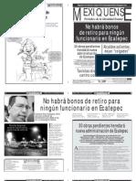 Versión impresa del periódico El mexiquense 14 de diciembre 2012
