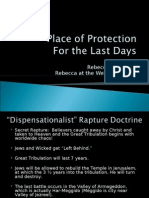 Place of Protection (Rapture or Place of Safety) in the Last Days
