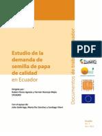 Estudio de demanda de semilla de calidad en Ecuador