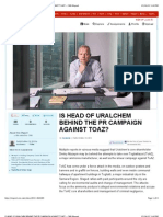 Is Head of Uralchem Behind the Pr Campaign Against Toaz? - Cnn Ireport