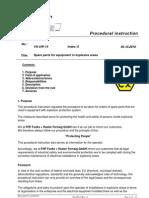 Repair Spare Parts Procedural Instruction