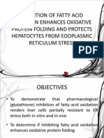 Inhibition of Fatty Acid Oxidation Enhances Oxidative Protein