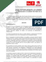 MOCIÓN IU-PSOE  BESCAM