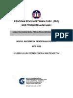 MTE3102 Kurikulum Pendidikan Matematik