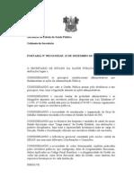 PORTARIA N 392 DISCIPLINA JORNADA TRABALHO SERVIDORES SAÚDE