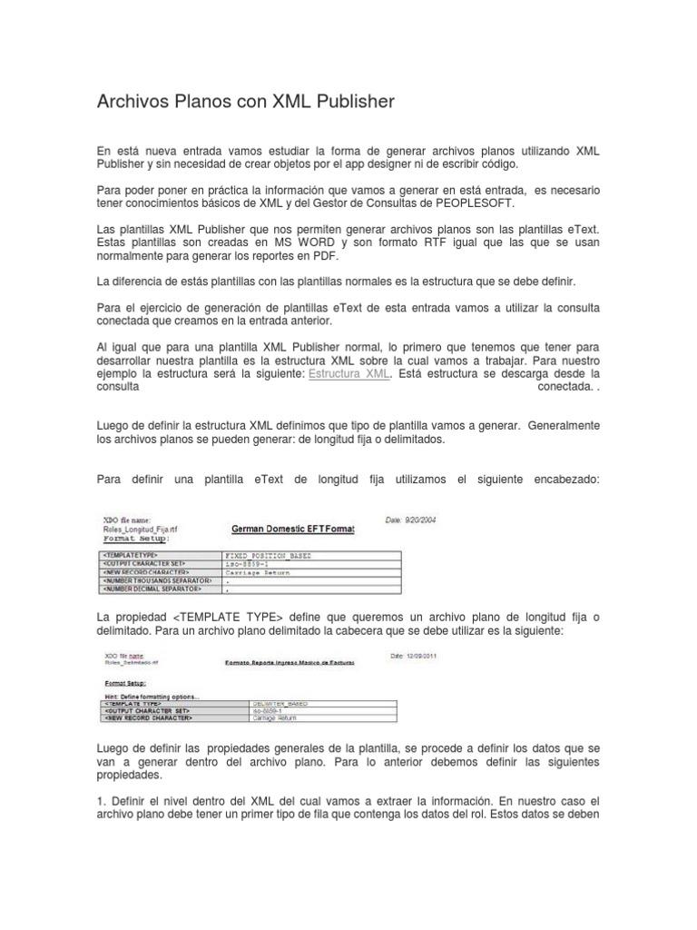 Único Plantilla Xml Motivo - Ejemplo De Colección De Plantillas De ...