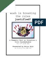 Unit Plan on Injustice