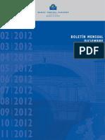 BCE - Boletín Oficial de diciembre de 2012 - Nuevos recortes para España