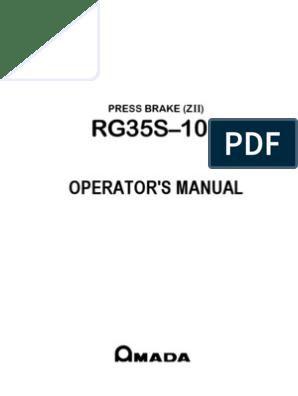 Amada Operators Manual | Cable | Screw