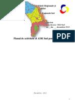 Planul de activitate al Agenţiei de Dezvoltare Regională Sud pentru 2013